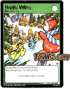 Neopets Hannah and Ice Caves Uncommon Single Card # 77 Happy Valley