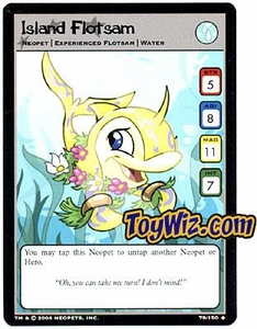 Neopets Hannah and Ice Caves Uncommon Single Card # 79 Island Flotsam