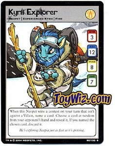 Neopets Hannah and Ice Caves Uncommon Single Card # 80 Kyrii Explorer