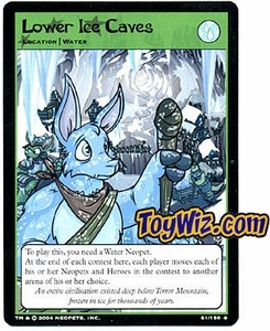 Neopets Hannah and Ice Caves Uncommon Single Card # 81 Lower Ice Caves