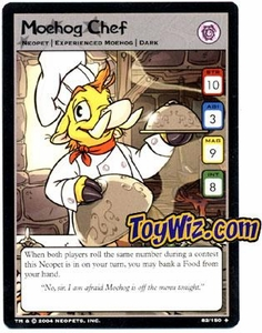 Neopets Hannah and Ice Caves Uncommon Single Card # 82 Moehog Chef