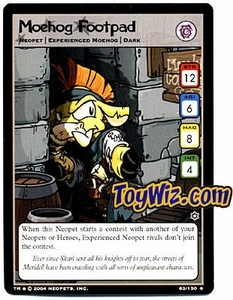 Neopets Hannah and Ice Caves Uncommon Single Card # 83 Moehog Footpad