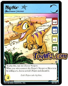 Neopets Hannah and Ice Caves Uncommon Single Card # 84 Niptor