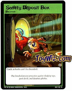 Neopets Hannah and Ice Caves Uncommon Single Card # 85 Safety Deposit Box