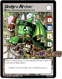 Neopets Hannah and Ice Caves Uncommon Single Card # 86 Shoyru Archer