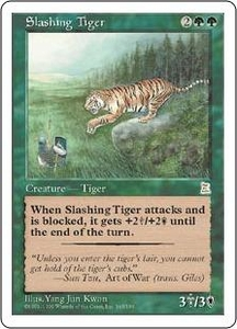 Magic the Gathering Portal Three Kingdoms Single Card Rare #145 Slashing Tiger
