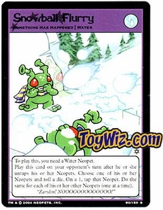 Neopets Hannah and Ice Caves Uncommon Single Card # 89 Snowball Flurry