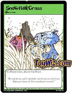 Neopets Hannah and Ice Caves Uncommon Single Card # 91 Snowflea Grass