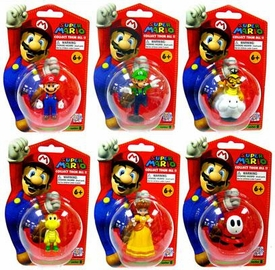 Master Replicas Super Mario Brothers Series 2 Set of 6 Vinyl Mini Figures [Mario, Shy Guy, Luigi, Lakitu, Daisy & Koopa]