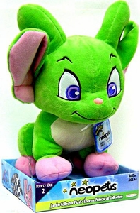 Neopets Series 2 Deluxe 10 Inch Collector Plush Green Acara