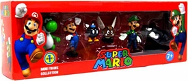 Super Mario Mini Figure 6-Pack Collection Series 1 [Green Yoshi, Mario, Bob-omb, Paragoomba, Luigi & Bullet Bill]