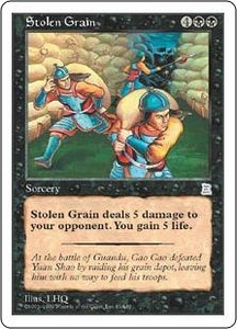 Magic the Gathering Portal Three Kingdoms Single Card Uncommon #83 Stolen Grain