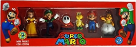 Super Mario Mini Figure 6-Pack Collection Series 2 [Daisy, Luigi, Shy Guy, Koopa Troopa, Mario & Lakitu]