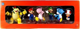 Super Mario Mini Figure 6-Pack Collector Set [Bowser, Mario, Blue Yoshi, Luigi, Pink Yoshi & Toad]