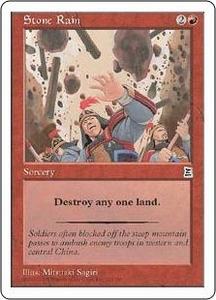 Magic the Gathering Portal Three Kingdoms Single Card Common #123 Stone Rain