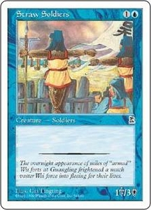 Magic the Gathering Portal Three Kingdoms Single Card Common #54 Straw Soldiers