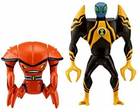 Ben 10 Alien Creation Chamber Mini Figure 2-Pack Brainstorm & Lodestar