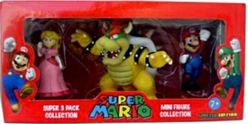 Super Mario Brothers Nintendo Special 3-Pack Collection Princess Peach, Bowser & Mario