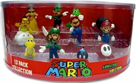 Super Mario Mini Figure 12-Pack Complete Set Series 1 & 2