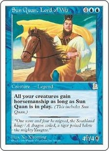 Magic the Gathering Portal Three Kingdoms Single Card Rare #56 Sun Quan, Lord of Wu