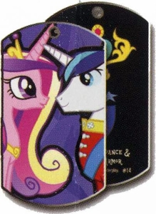 My Little Pony Friendship is Magic Single Dog Tag #14 Princess Cadance & Shining Armor