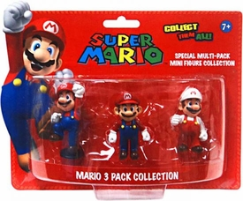 Super Mario Mini Figure 3-Pack Mario Collection [Jumping, Standing & Fire Mario]