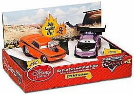 Disney / Pixar CARS Movie Exclusive 1:48 Die-Cast Cars with Neon Lights 2-Pack Snot Rod & Boost