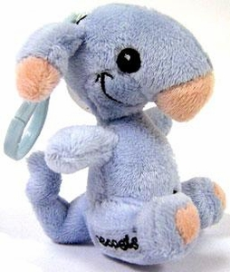 Neopets 3 Inch Mini Plush Key Clip Blue Blumaroo