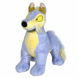 Neopets 3 Inch Mini Plush Key Clip Blue Lupe