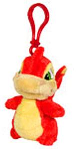 Neopets 3 Inch Mini Plush Key Clip Red Scorchio
