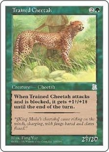 Magic the Gathering Portal Three Kingdoms Single Card Uncommon #155 Trained Cheetah
