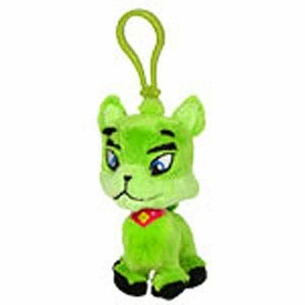 Neopets 3 Inch Mini Plush Key Clip Green Ixi