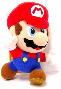 New Super Mario Brothers Popco Plush Medium 6 Inch Plush Leaping Mario