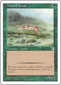 Magic the Gathering Portal Three Kingdoms Single Card Common #155 Trained Jackal