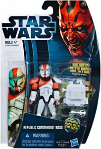 Star Wars 2012 Clone Wars Action Figure #11 Republic Commando Boss [Opening Pack with Zip Line!]