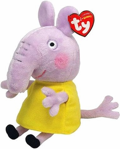 Ty Peppa Pig UK Exclusive Beanie Baby Emily Elephant
