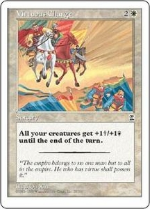 Magic the Gathering Portal Three Kingdoms Single Card Common #29 Virtuous Charge
