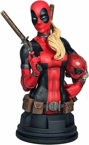 Marvel Gentle Giant Limited Edition Mini Bust Lady Deadpool Only 1200 Made!