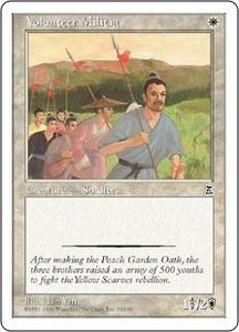 Magic the Gathering Portal Three Kingdoms Single Card Common #30 Volunteer Militia
