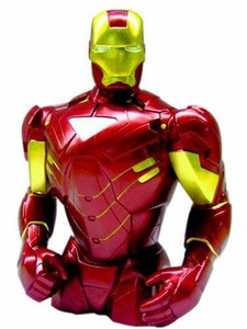 San Diego Comic Con 2010 Iron Man 2 Resin Bust Bank Mark VI Armor