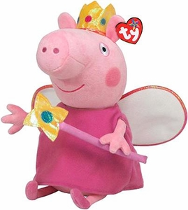 Ty Peppa Pig UK Exclusive Beanie Baby Princess Peppa