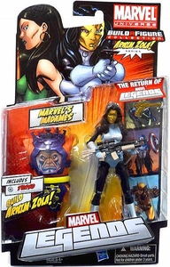 Marvel Legends 2012 Series 2 Action Figure Madame Masque {White & Blue Suit} [Arnim Zola Build-A-Figure Piece]