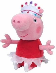 Ty Peppa Pig UK Exclusive Beanie Baby Ballerina Pig