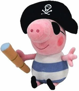 Ty Peppa Pig UK Exclusive Beanie Baby Pirate George the Pig