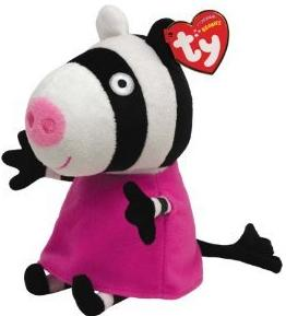 Ty Peppa Pig UK Exclusive Beanie Baby Zoe Zebra