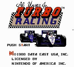 Nintendo Entertainment System NES Played Cartridge Game Al Unser Jr. Turbo Racing