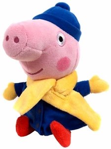 Ty Peppa Pig UK Exclusive Beanie Baby George in Winter Coat