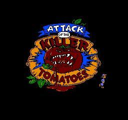 Nintendo Entertainment System NES Played Cartridge Game Attack of the Killer Tomatoes