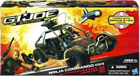 GI Joe Retaliation Movie Bravo Vehicle Ninja Commando 4x4 with Snake Eyes Action Figure