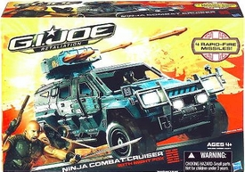 GI Joe Retaliation Movie Delta Vehicle Ninja Combat Cruiser with Night Fox Action Figure